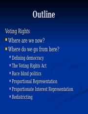 race day 16- voting rights -future