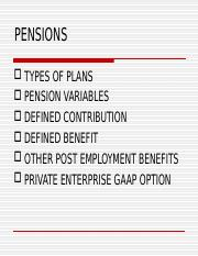 PENSIONS Ch 18-Fall 2016