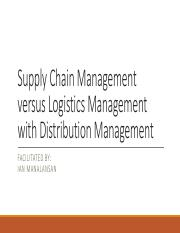 II. Supply Chain Management  versus Logistics Management with Distribution.pdf