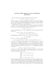 Quasilinear Equations Notes