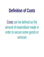 Definition of Costs.ppt