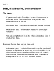 Lecture topic data-distributions-correlation