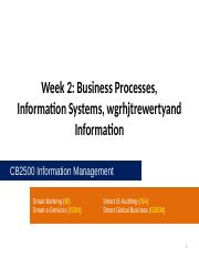 CB2500 - Week02 - Business Processes, Information Systems, and Information.pptx