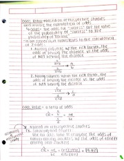 Odds Ratio Notes