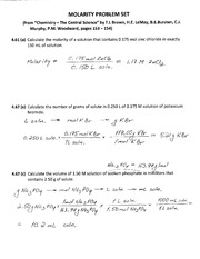 Molarity_Problem_Set_Ans_Key