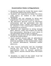 Examination Rules and Regulations   2333