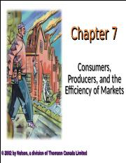 06. Consumers, Producers, And The Efficiency Of Markets.ppt