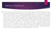 History of Cloud and Hypervisor