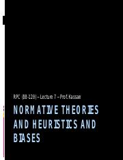 Lecture 6 - Normative Theories and H&B (upload)