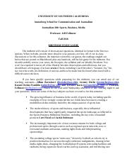 USC 2016 Fall J380 Midterm Study Guide