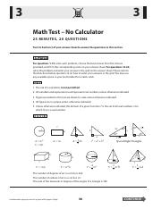 SAT Math Practice Test 4 pdf - 3 3 Math Test No Calculator