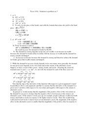 Solutions to Problem Set 3