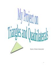 Triangle and quadrilateral project.doc
