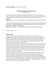 Revista de Psicología- Satisfaccion laboral
