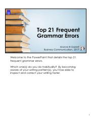 DGarrett Top 21 Frequent Grammar Errors 2017 with Notes.pdf