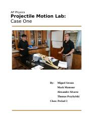 Projectile Motion Case One : Blank Version.docx