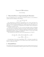 NumericalDifferentiation