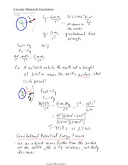 PHYS 12 Gravitational Potential Energy & Work Notes