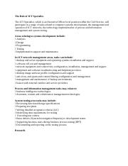 The Role of ICT Specialist.docx