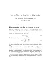 elasticity of substitutionrevised