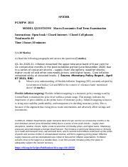 Macro Economics Model questions end term.docx - SPJIMR ...