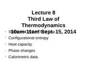 Lecture+8_Third+Law+of+Thermodynamics