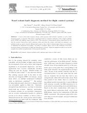 Novel robust fault diagnosis method for flight control systems 故障诊断