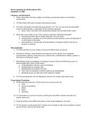 Review Questions for MCB32 Review MT1 no answers
