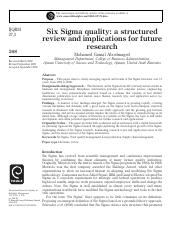 Six Sigma quality - astructuredreviewand implications for future research.pdf
