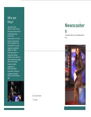 newscaster brochure