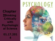 Chp 1 - Psychological Science