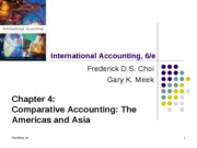 Comparative Accounting: The Americas and Asia
