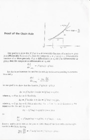 2007-10-05 Proof of the Chain Rule