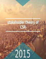 stakeholder theory of CSR PPT