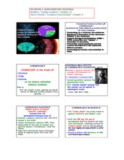 Cosmology - Origin and Evolution of the Cosmos notes