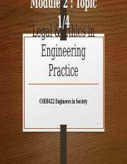 COEB422 Engineering Ethics