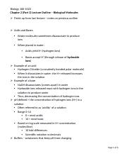 Chapter 2 (Part 2) Outline - Biological Moledules.docx