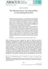 taplin_2011_measurement of comparability in accounting research
