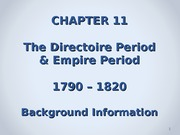 Chapter 11 - Directoire  Empire - Background - Students