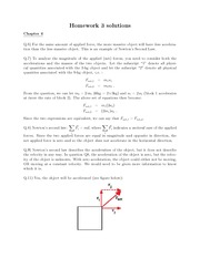 Physics101 Homework 3 with answers part 2 (questions)