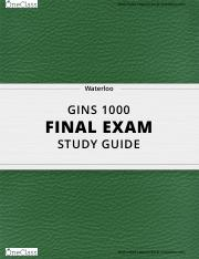 [GINS 1000] - Final Exam Guide - Ultimate 46 pages long Study Guide! .pdf