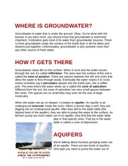 Where is Groundwater