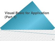 16._Visual_Basic_for_Application_VBA_Part_1_updated