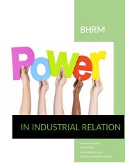 Sources of Power in Industrial relations