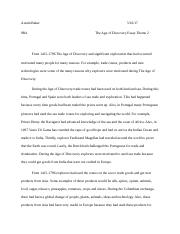 essay age discovery View and download age of discovery essays examples also discover topics, titles, outlines, thesis statements, and conclusions for your age of discovery essay.
