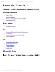 Physics 431_ Low-temperature superconductivity