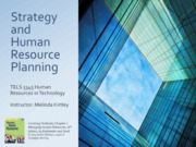 Chapter 2 Lecture Slides -Strategy and Human Resource Planning