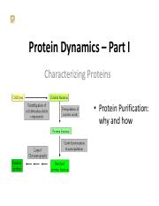 7-Characterizing Proteins I