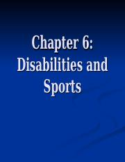 Ch. 6 Disabilities and Sports