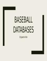 Baseball Databases